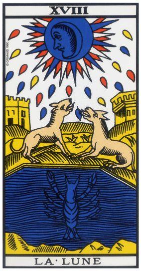 La Lune Du Tarot Divinatoire