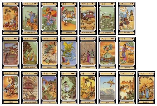 d715c564645bdb Les 22 arcanes majeures du tarot chinois